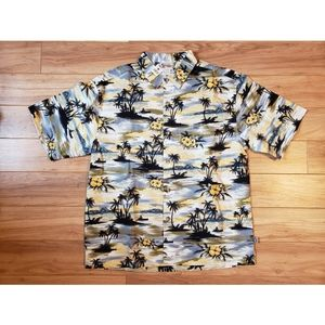 Walt Disney Mickey Hawaiian Floral Shirt